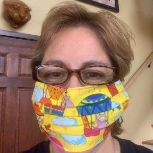 NAC Board Member with homemade Face Mask